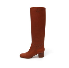 chanel riding boot