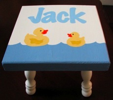 Hand Painted Duck Stool