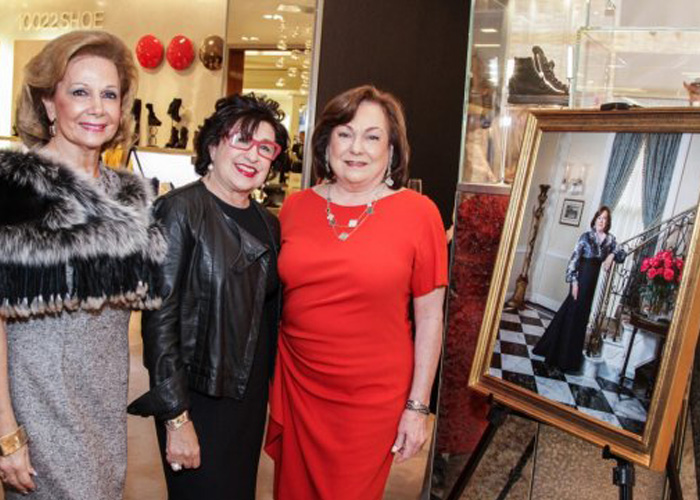 Image of Roz, Rose Cullen and Philamena Baird at Women of Distinction Portrait unveiling at Saks