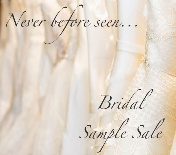 Never Before Seen Bridal Sample Sale - Fashion Blogger From ...