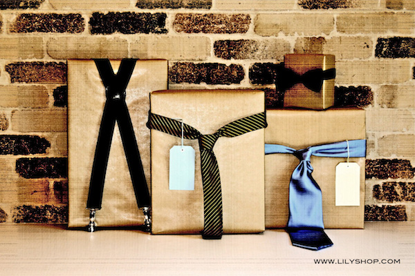 Fathers Day gift wrapping idea