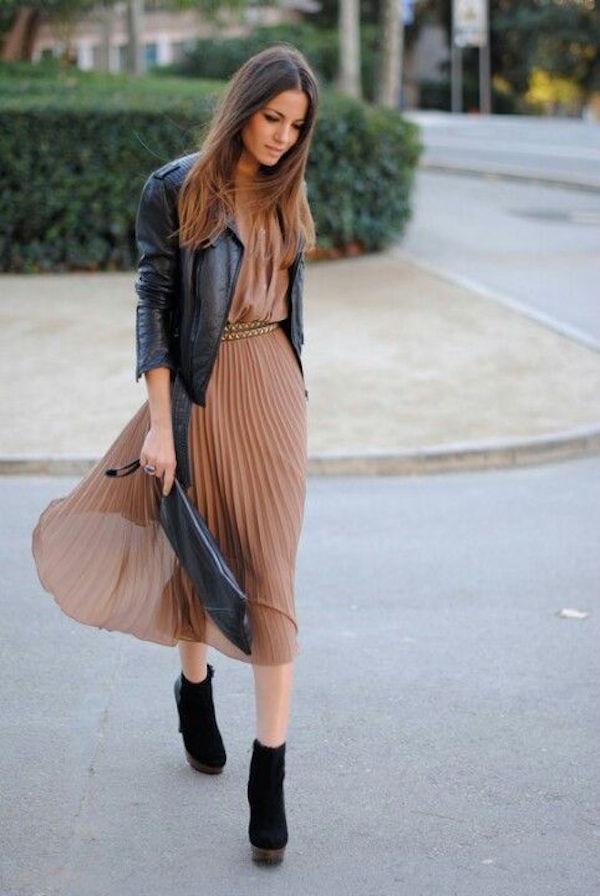 Lauren Conrad_dressier_midi with leather jkt