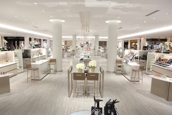Saks new houston galleria store luxe and glam on a large for 5th avenue beauty salon