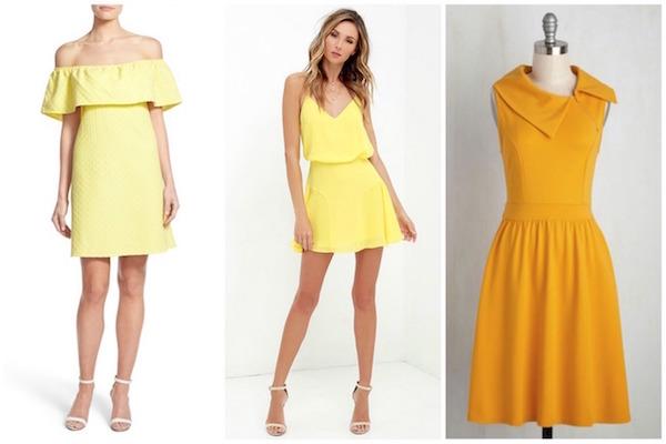 Marigold colored dresses
