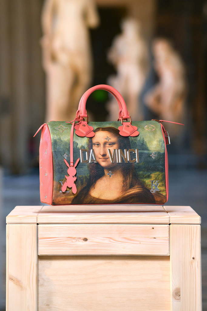 A look from  Louis Vuitton collaboration with Jeff Koons.