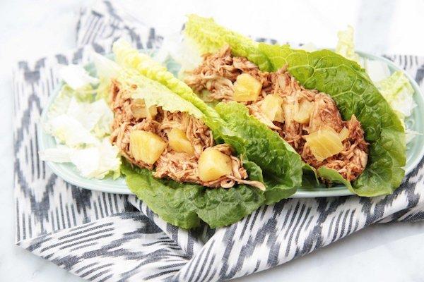 Shredded BBQ Chicken Lettuce Wraps